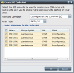 CacheCade SSD Unit Creation